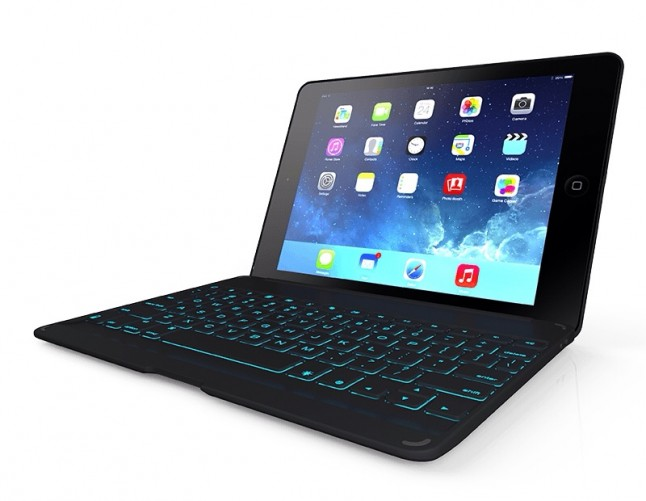ZAGGkeys Folio Keyboard for iPad Air - Angled View