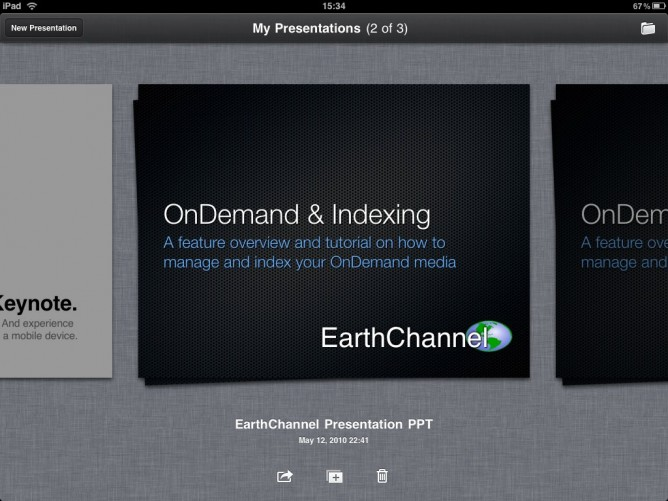 Apple Keynote for iPad -- My Presentations