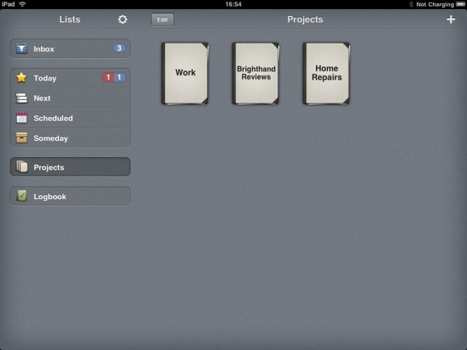Projects in Things for iPad