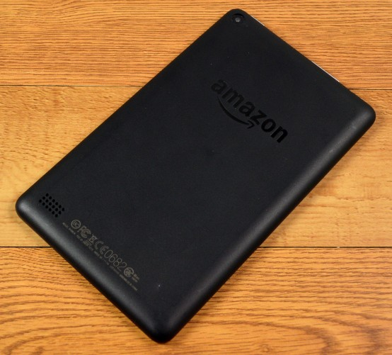 The Amazon Fire is a bulky tablet.