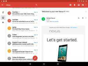 Gmail in Android 5.0 Lollipop