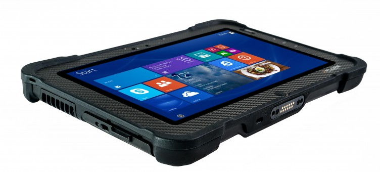 Xplore Xslate B10 Left Side and Bottom Edge