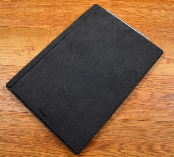 The Surface Pro 4 Type Cover has the same felt-like material.