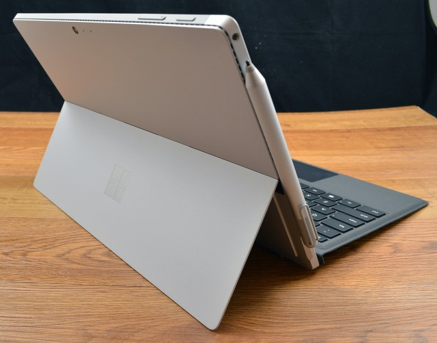 The Surface Pro 4 kickstand returns and is still one of its strongest design features.