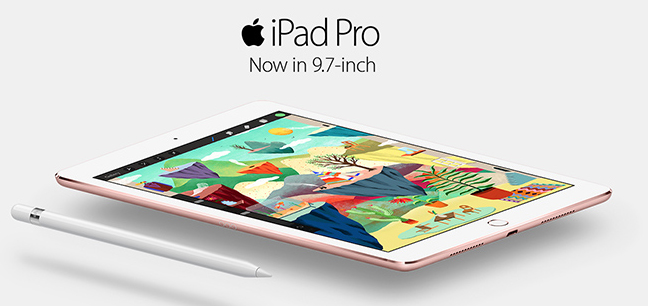 The iPad Pro is now available in traditional iPad size.