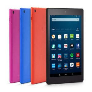 Amazon Fire HD 8 In Four Colors