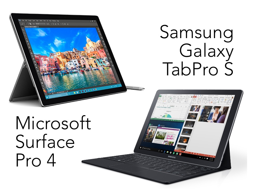 Samsung Galaxy TabPro S vs Microsoft Surface Pro 4