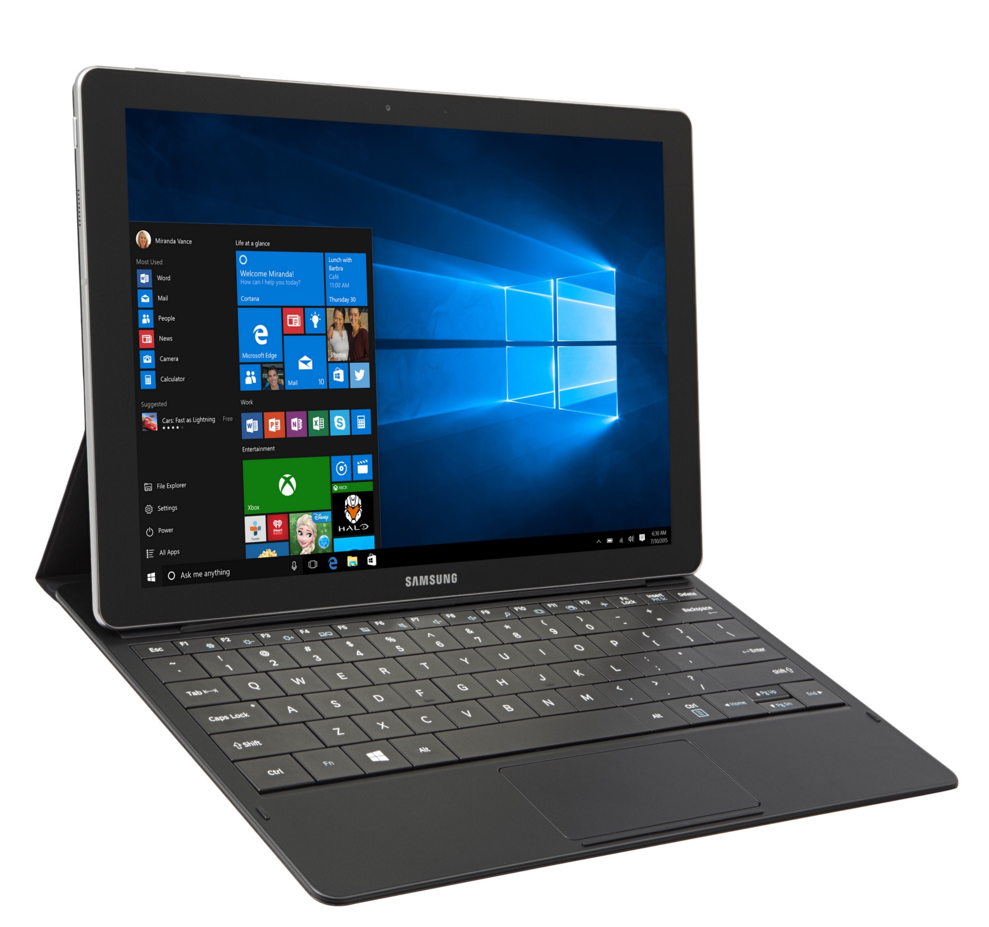 samsung galaxy tabpro s is a thin 2 in 1 windows 10 tablet. Black Bedroom Furniture Sets. Home Design Ideas