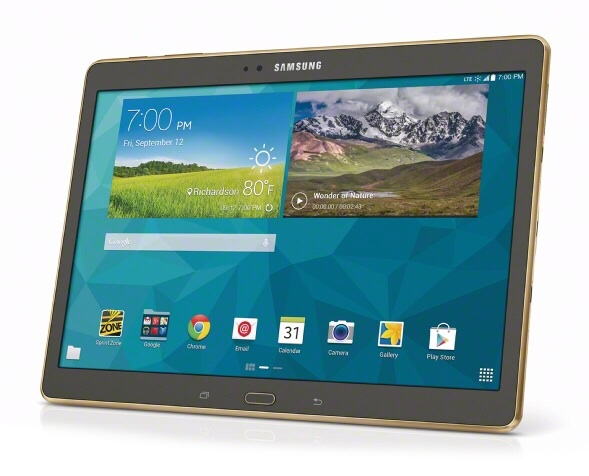 samsung galaxy tab s 10 5 lte now available from sprint. Black Bedroom Furniture Sets. Home Design Ideas