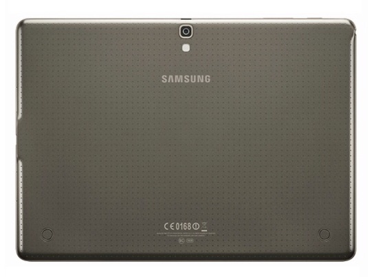 Samsung Galaxy Tab S 10.5 -- Rear View