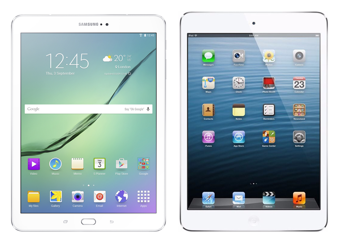 Samsung Galaxy Tab S2 97 Vs Apple Ipad Air 2 16gb Silver And