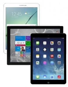 iPad, Surface, and Tab S2