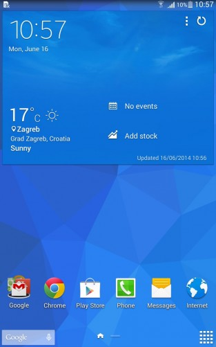 Google Android 4.4 KitKat with Samsung TouchWiz UI