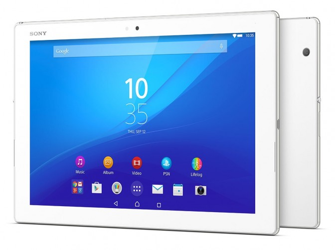 Sony Xperia Z4 Tablet -- Front and Back