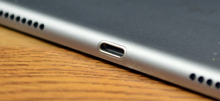 The iPad Pro has a traditional Apple Lightning connector.